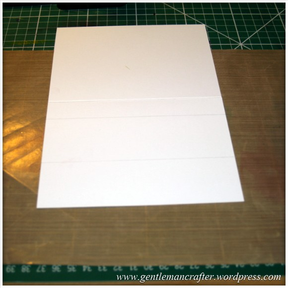 Simple Single Layer Stamping With Inkadinkado Stamping Gear - 1