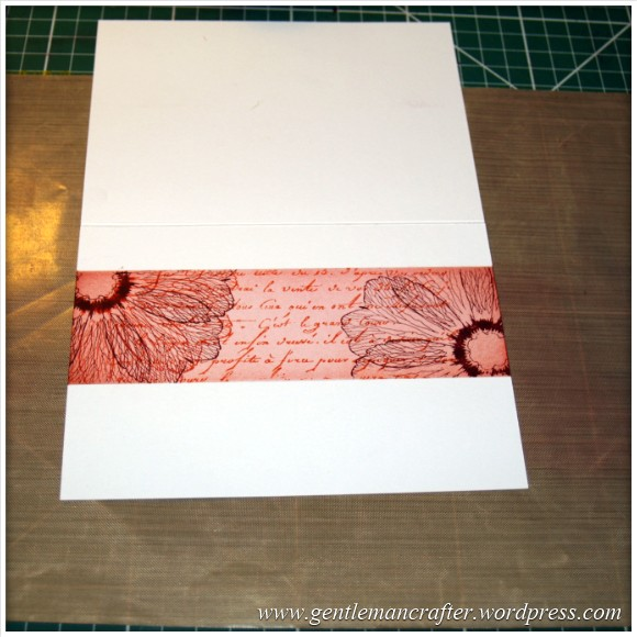 Simple Single Layer Stamping With Inkadinkado Stamping Gear - 10