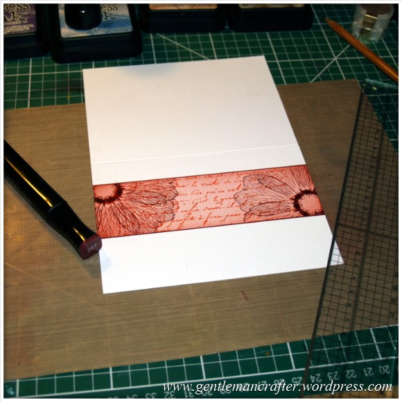 Simple Single Layer Stamping With Inkadinkado Stamping Gear - 11