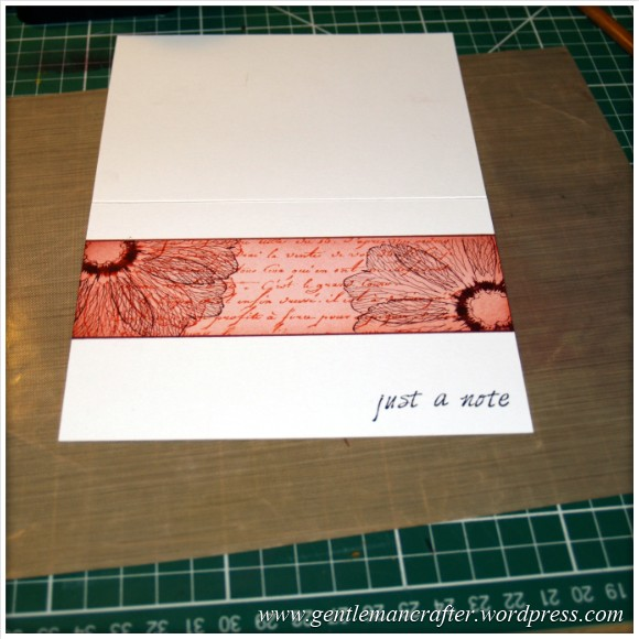 Simple Single Layer Stamping With Inkadinkado Stamping Gear - 12