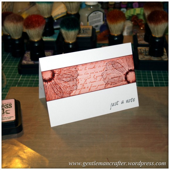 Simple Single Layer Stamping With Inkadinkado Stamping Gear - Finished Piece