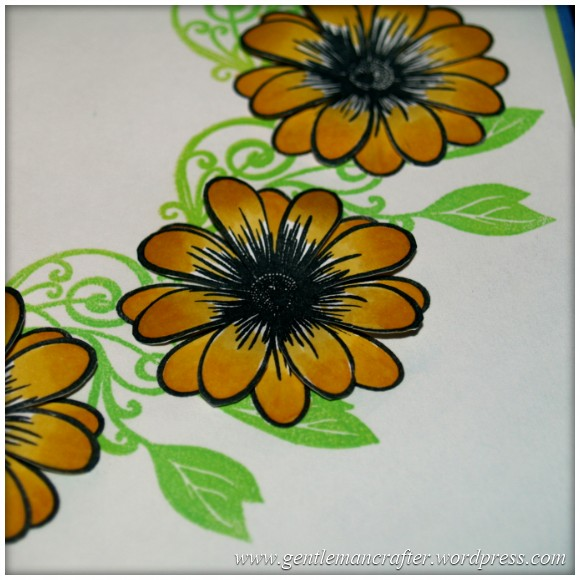 Alls Well That Ends Well - An Inkadinkado Stamping Gear Card - Applying The Second Layer of Flowers