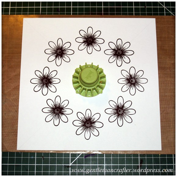 Alls Well That Ends Well - An Inkadinkado Stamping Gear Card - Stamping The Flowers