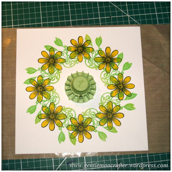 Alls Well That Ends Well - An Inkadinkado Stamping Gear Card - Stamping The Leaves