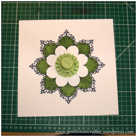 Inkadinka-Doily Card - An Inkadinkado Card - First Round With Masks On