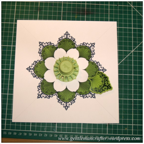 Inkadinka-Doily Card - An Inkadinkado Card - Second Round Stamp Placement