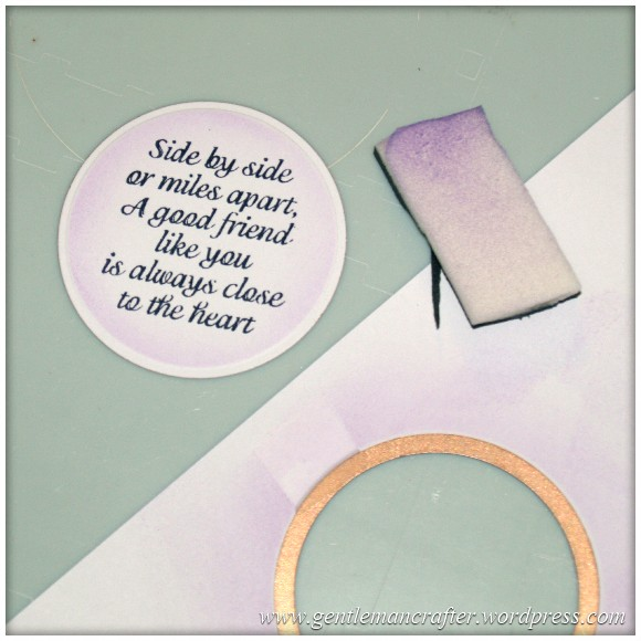 Inkadinka-Doily Card - An Inkadinkado Card - Sentiment Stamped And Inked