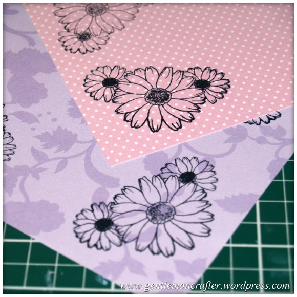 Inkadinka-Doily Card - An Inkadinkado Card - Stamped Floral Papers