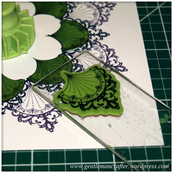 Inkadinka-Doily Card - An Inkadinkado Card - Stamping The Corners 1