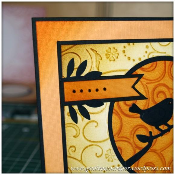 Using Embossing Folders - Bird On A Branch - 4