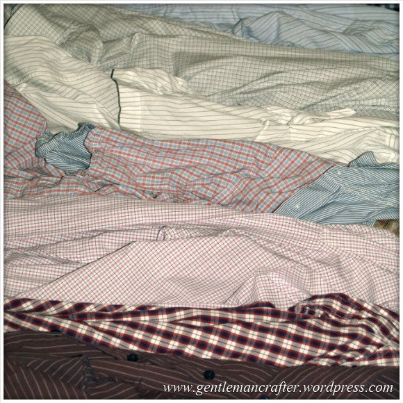 Winter Projects - Shirt Quilt Material