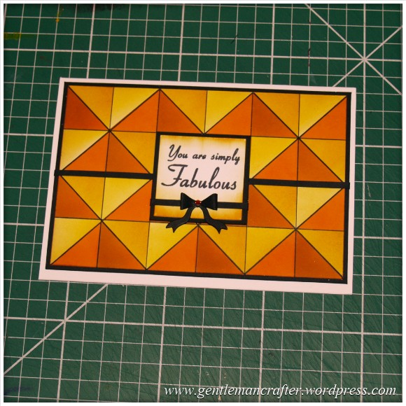 Abstract Pattern With Tim Holtz Distress Inkpads - Finished