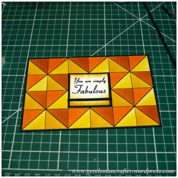 Abstract Pattern With Tim Holtz Distress Inkpads - Layout Idea 2