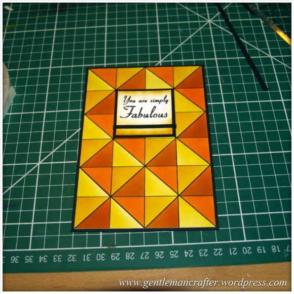 Abstract Pattern With Tim Holtz Distress Inkpads - Layout Idea