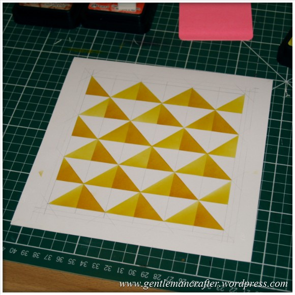 Abstract Pattern With Tim Holtz Distress Inkpads - Stage 1 Complete