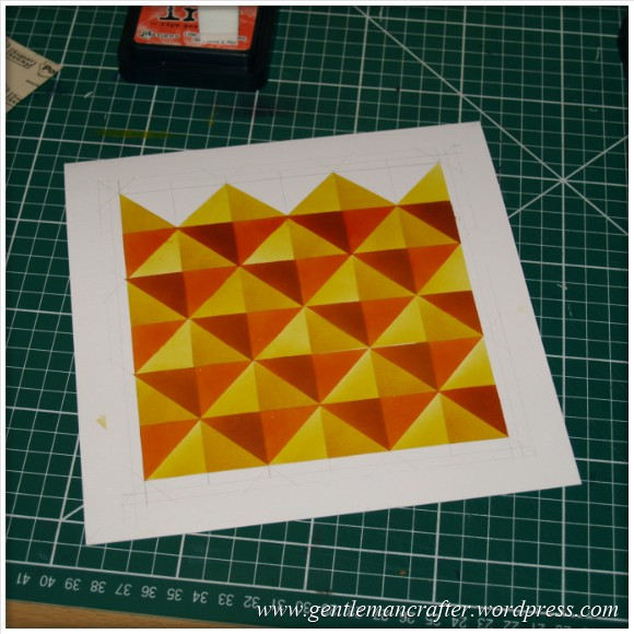 Abstract Pattern With Tim Holtz Distress Inkpads - Stage 2