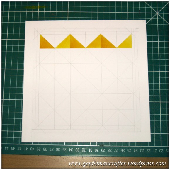 Abstract Pattern With Tim Holtz Distress Inkpads - Starting Steps