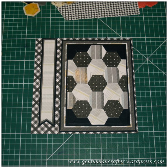 Faux Patchwork Card With Hexagon Spellbinders Dies - Assembly Step 3