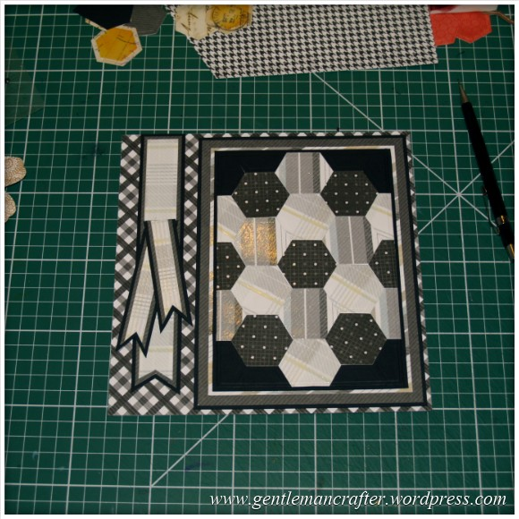 Faux Patchwork Card With Hexagon Spellbinders Dies - Assembly Step 4