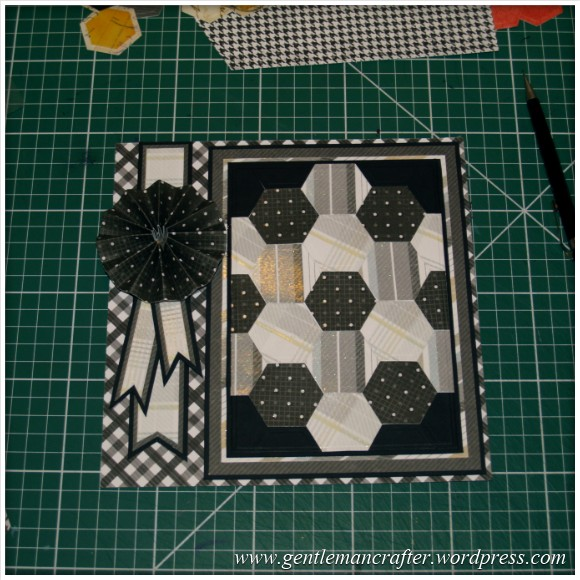 Faux Patchwork Card With Hexagon Spellbinders Dies - Assembly Step 5