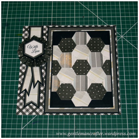 Faux Patchwork Card With Hexagon Spellbinders Dies - Assembly Step 6