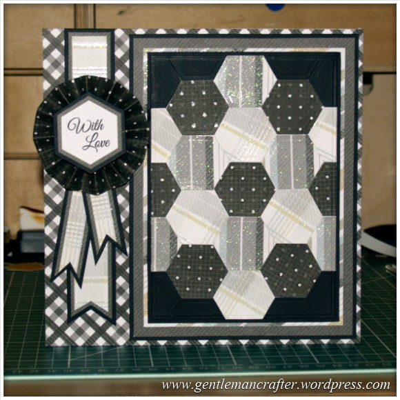 Faux Patchwork Card With Hexagon Spellbinders Dies - Finished Card 2