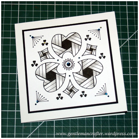 Old Dog, New Tricks - Using Old Stencils For Zentangled Cards - Finished Card 2.1