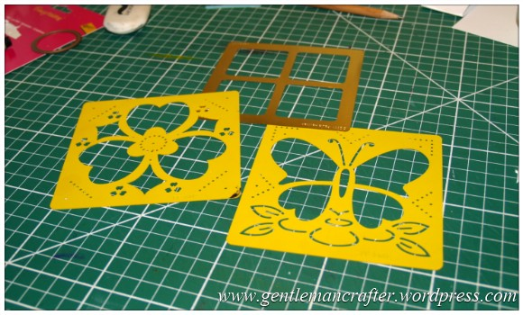 Old Dog, New Tricks - Using Old Stencils For Zentangled Cards - Stencils