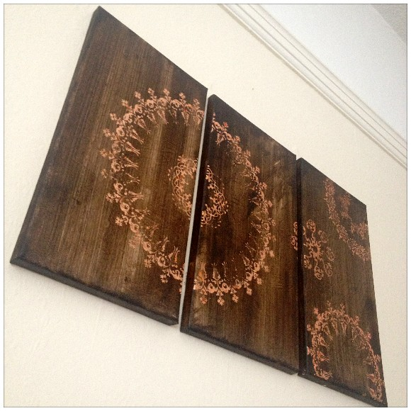 Canvas with Gilding Flakes - Hung On The Wall