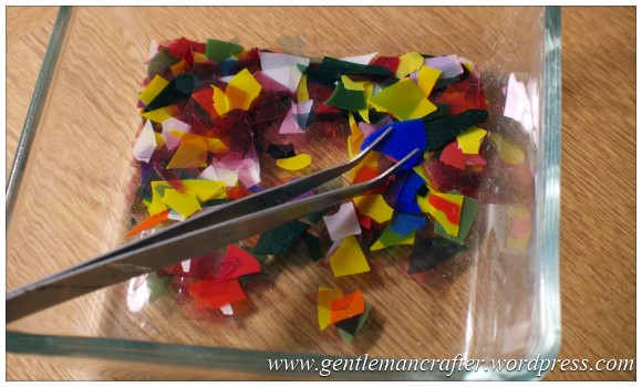 Making Microwave Fused Glass Cabochons - The Glass - Chips