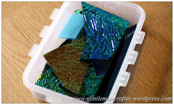 Making Microwave Fused Glass Cabochons - The Glass - Dichroic