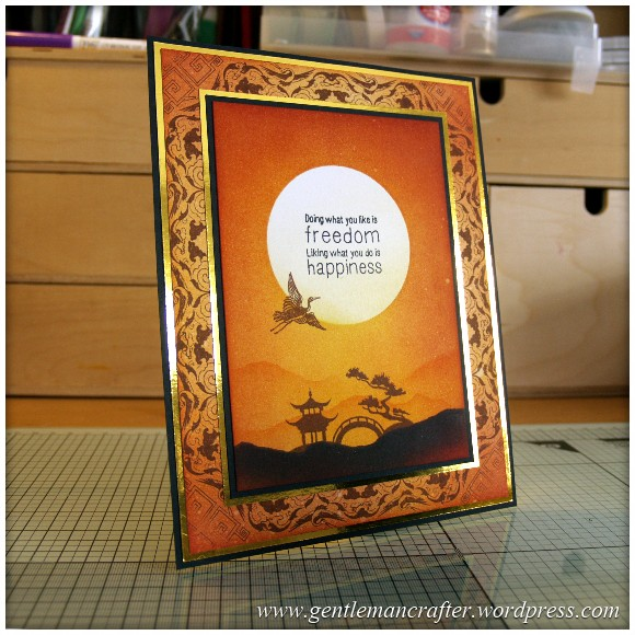 The Key To Happiness Rubber Stamped Card - Featured Image
