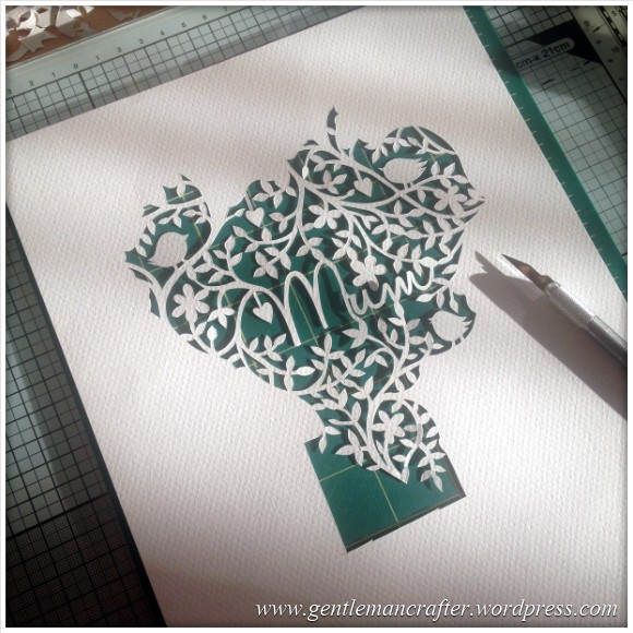 Mothers Day Paper Cutting Project 4