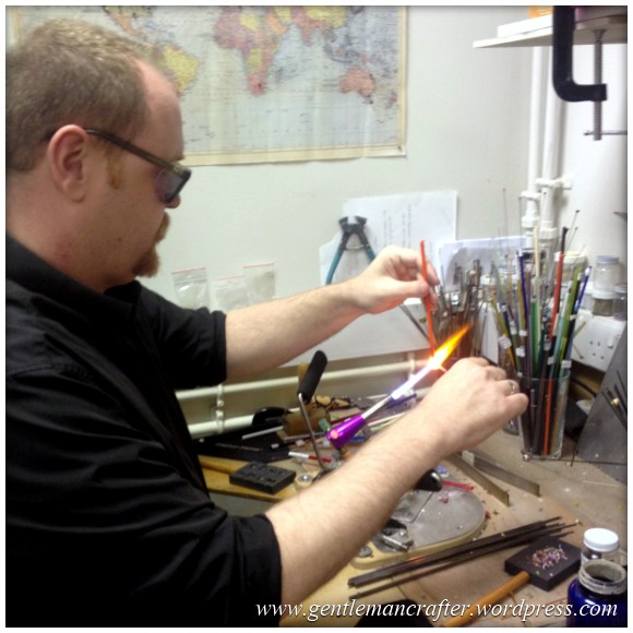 Glass Bead Making With Helen Chalmers - Me Conventrating