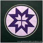 Fabric Friday - Practice Prairie Point Project - Finished Prairie Point Medallion - 1