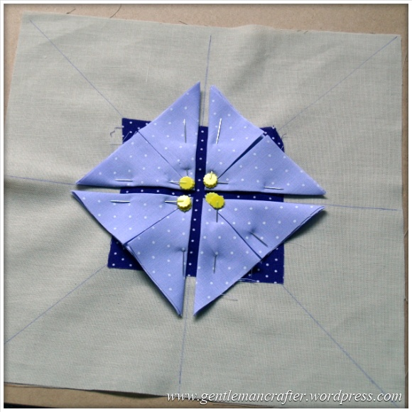 Fabric Friday - Practice Prairie Point Project - Making A Prairie Point Medallion - Step 3