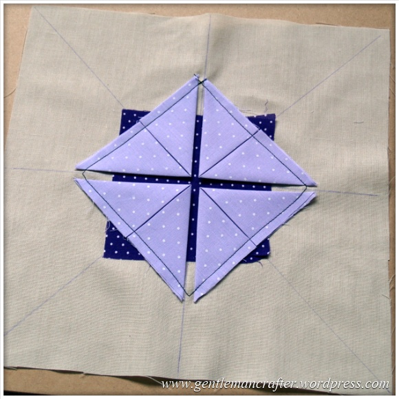 Fabric Friday - Practice Prairie Point Project - Making A Prairie Point Medallion - Step 4