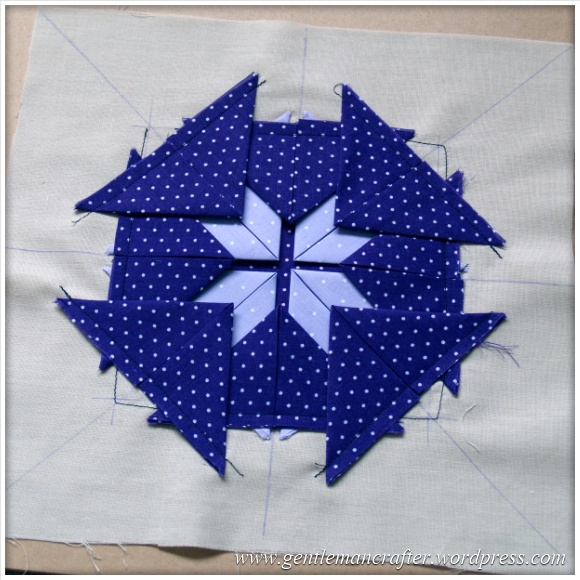 Fabric Friday - Practice Prairie Point Project - Making A Prairie Point Medallion - Step 6