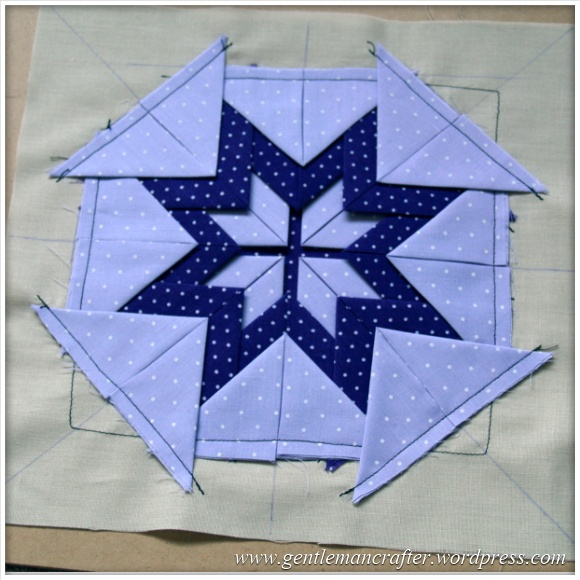 Fabric Friday - Practice Prairie Point Project - Making A Prairie Point Medallion - Step 8