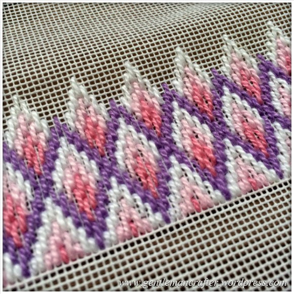 Fabric Friday - Bargello and Florentine Embroidery - Diamond Flame