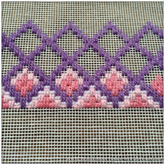 Fabric Friday - Bargello and Florentine Embroidery - Diamond