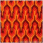 Fabric Friday - Bargello and Florentine Embroidery - Hungarian Point 3