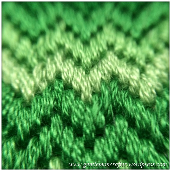 Fabric Friday - Bargello and Florentine Embroidery - Super Close Up Of Zig Zag