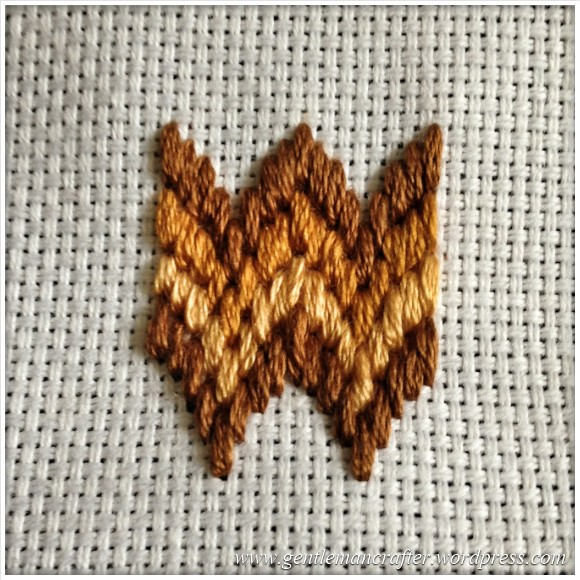 Fabric Friday - Bargello and Florentine Embroidery - Swags 2