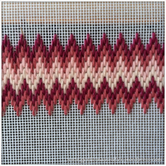 Fabric Friday - Bargello and Florentine Embroidery - Zig Zag 2