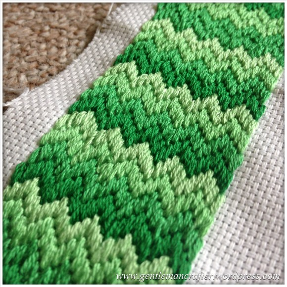 Fabric Friday - Bargello and Florentine Embroidery - Zig Zag
