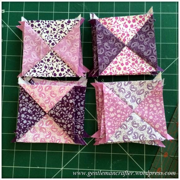 Fabric Friday - Fat Quarter Fun - Part 1 - Quarter Square Triangles