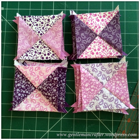 Fabric Friday - Fat Quarter Fun - Part 1 - Quarter Square Triangles