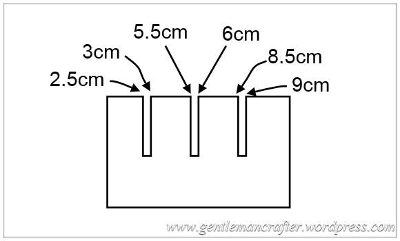 Monday Mash Up - DIY Tim Holtz Distress Inpad Storage - Strut Measurements