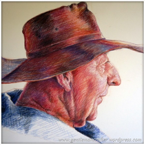 Worldwide Wednesday - David Newman-White - 'Max' Pastel pencil drawing on Stonehenge paper